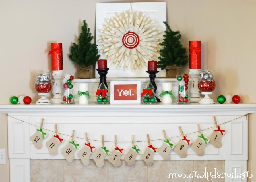 ... Ideas Fireplace Mantel And Cool Christmas Craft At White...