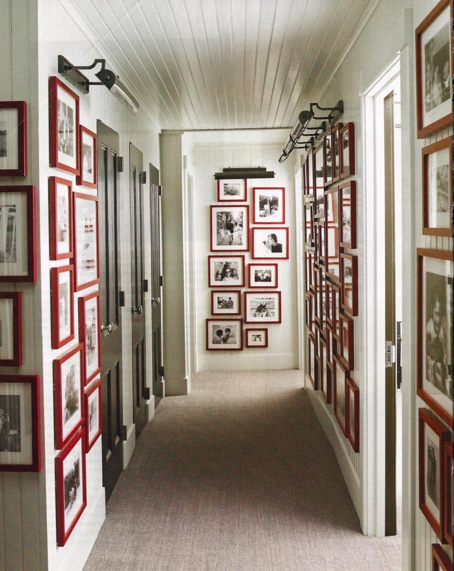 Interior, Hallway As Gallery Wall Picture Frame Ideas: 35...