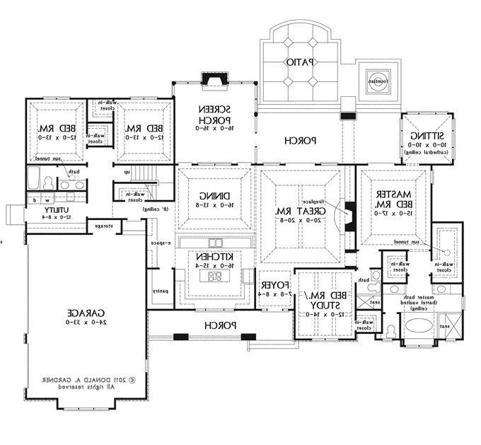 Large house plans with photos for Large 1 story house plans