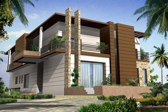 Modern big homes designs exterior views.