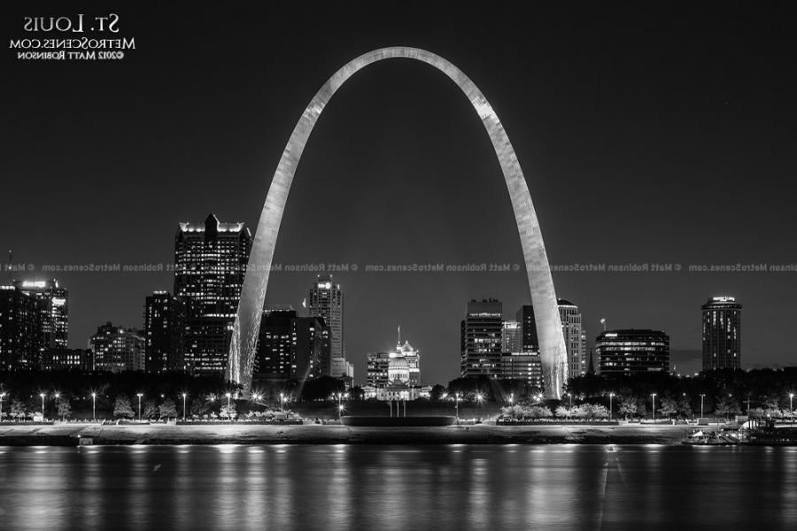 Black And White Photos Of St Louis Arch