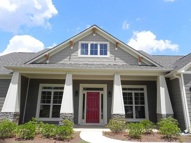 Craftsman style front porch photos for Craftsman home builders houston