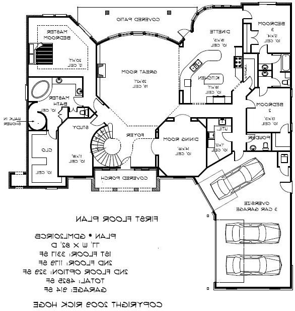 5000 square foot house plans photos for Floor plans for 4000 sq ft house