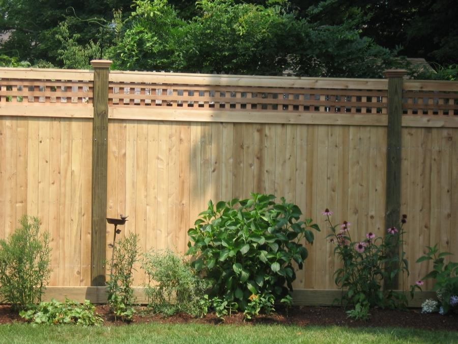 Pine Wood Fence Photos