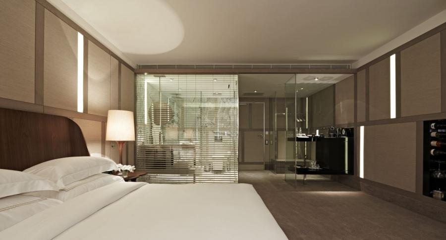 Master bed and bath photos for Master bedroom with open bathroom design