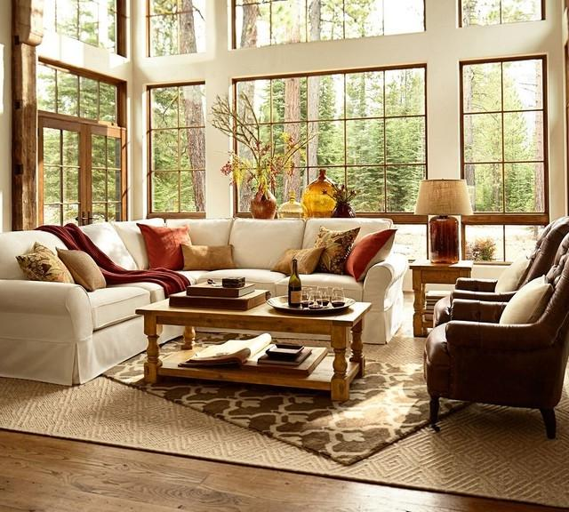 Pottery barn living rooms photos for Pottery barn family room