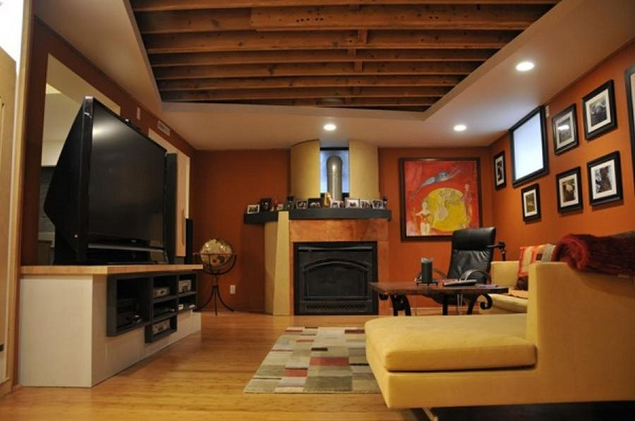 ... basement finishing ideas low ceiling Beautiful Basement Ideas...