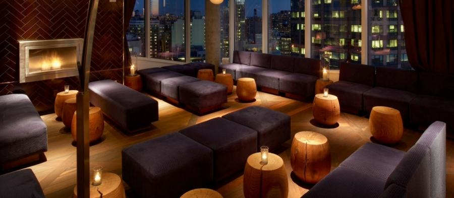 New York City rooftop bar and lounge in Manhattan at The James...
