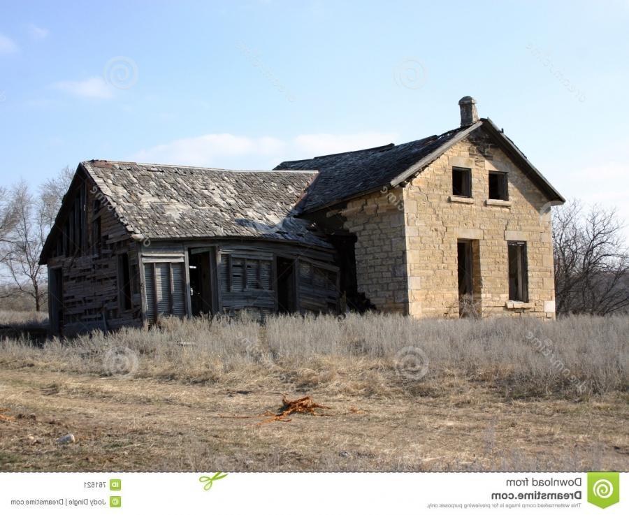 Abandoned Old Stone Farm House
