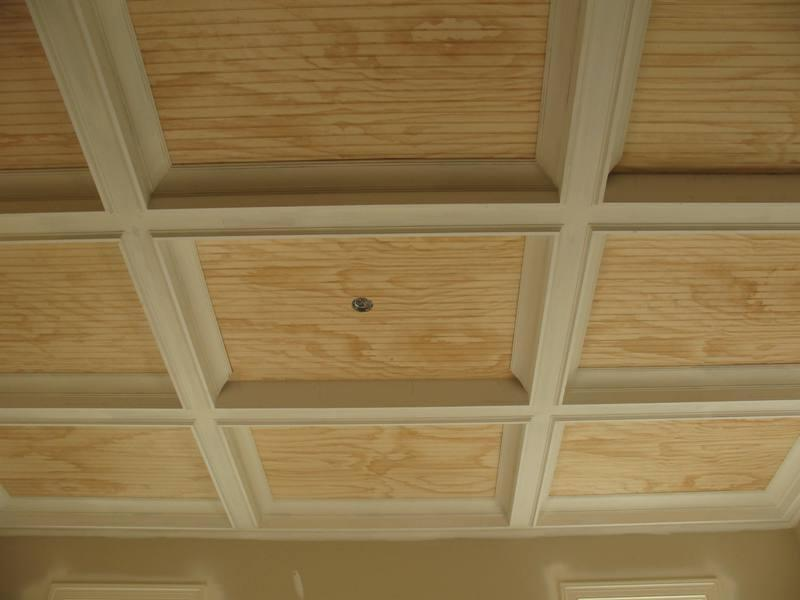Ceiling idea, with beadboard panels to provide easy access to the...