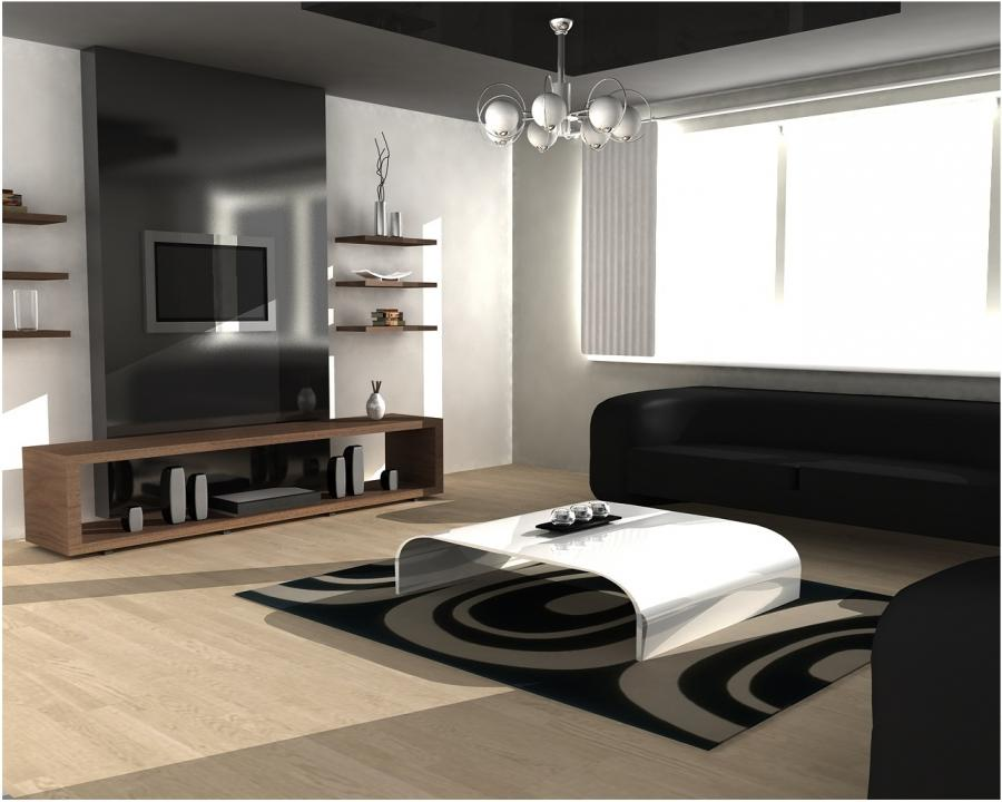 Modern Classic Simple Black And White Living Room Design