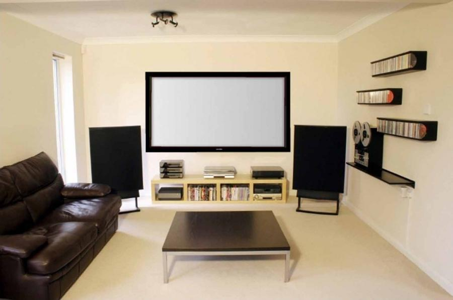 Photo home theatre room for Home theater room size
