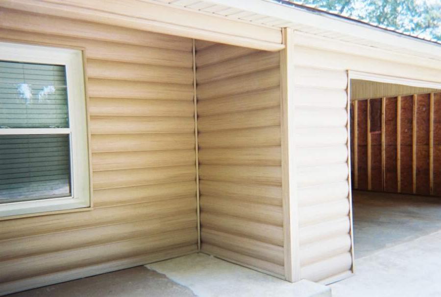 Log cabin vinyl siding photos for E log siding