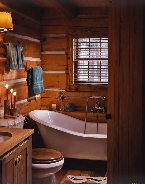 Amazoncom log cabin bathroom decor