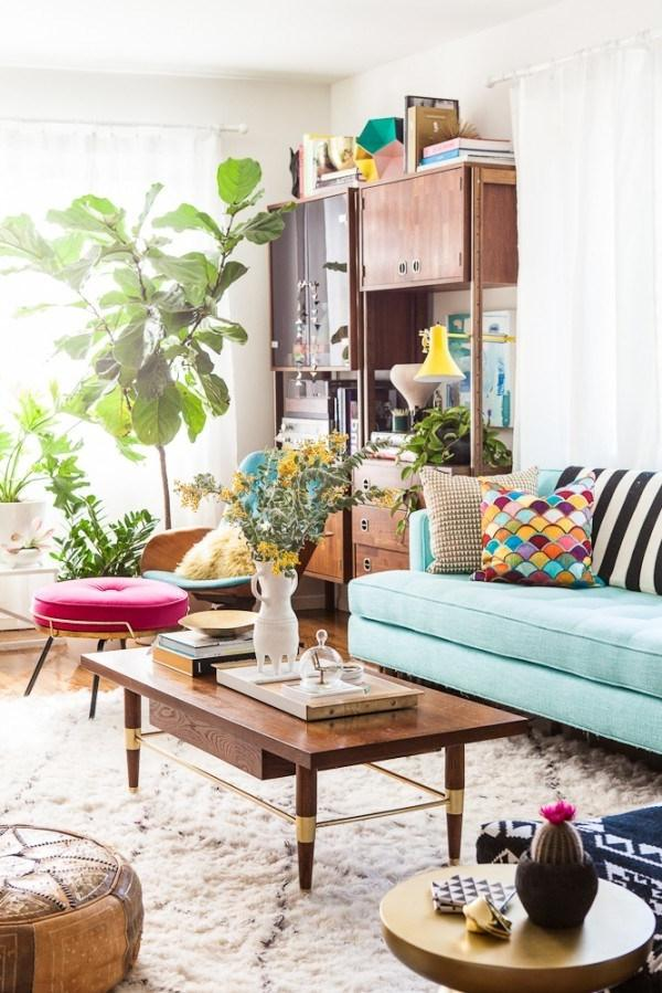 447ef Living room of blogger Bri Emery designed by Emily...
