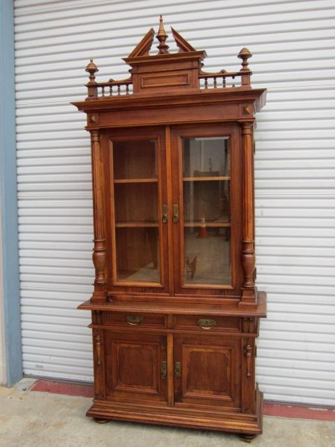 Antique German Bookcase Antique Hutch Sideboard Cabinet Cupboard...