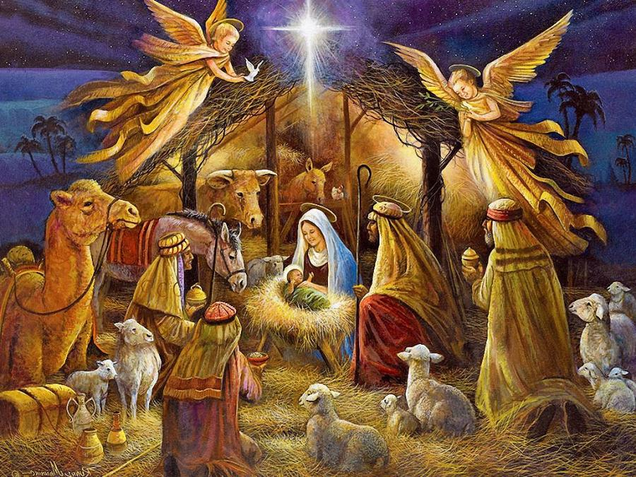 nativity christmas photo wallpaper
