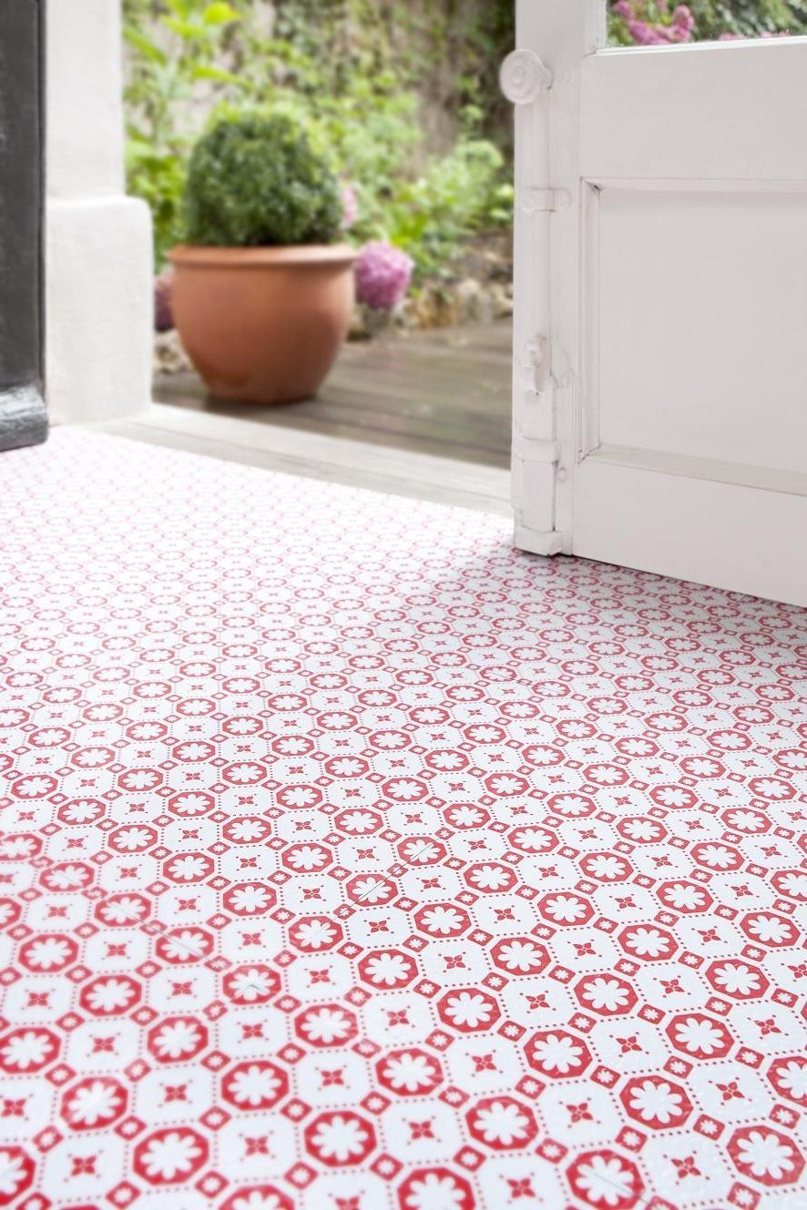 vinyl photo floor tiles