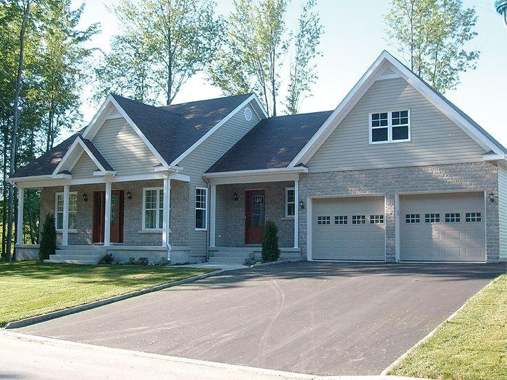 Photos of houses with attached garages for House plans with shop attached