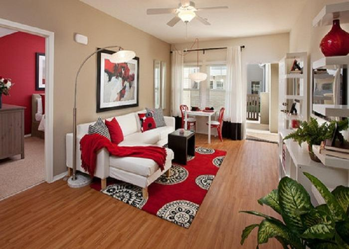 Decorated studio apartment photos - Charming white studio apartment for cool bachelor living area ...