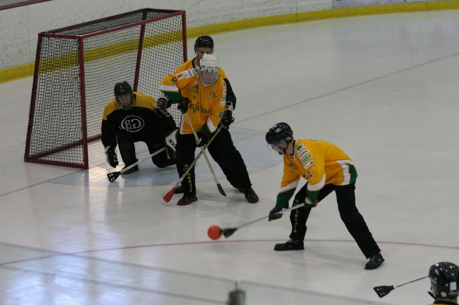 Broomball is a sport best described as being similar to field...