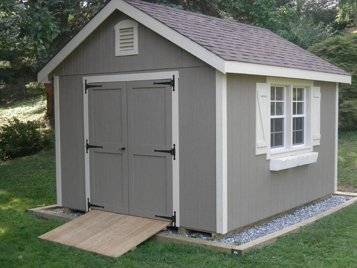 Classic Carriage House shed T1-11 wood siding 10u0026#39; x...