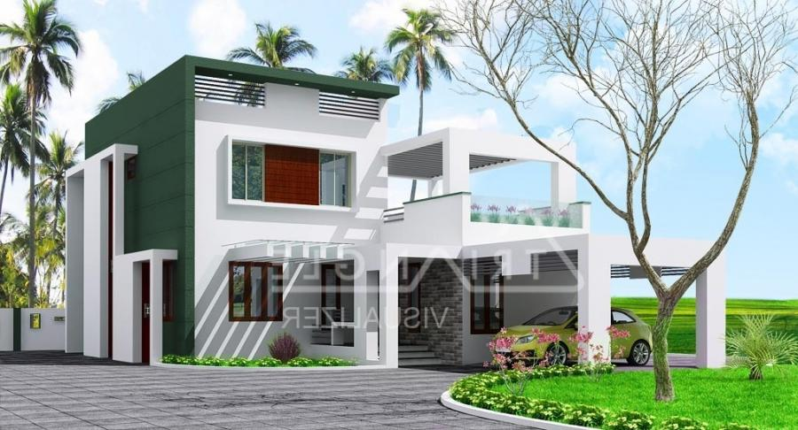Kerala low cost house photos for Cost to build 2000 sq ft house