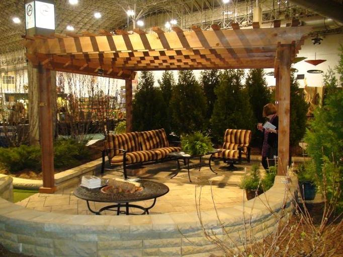 cedar pergolas photos. Black Bedroom Furniture Sets. Home Design Ideas