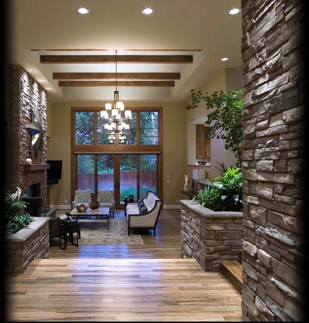 Cultured stone interior photos for Interior ledgestone