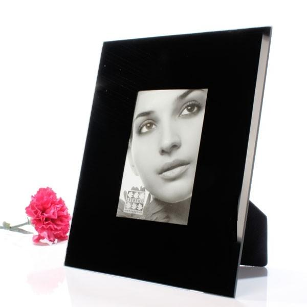Large Black Glass Photo Frames