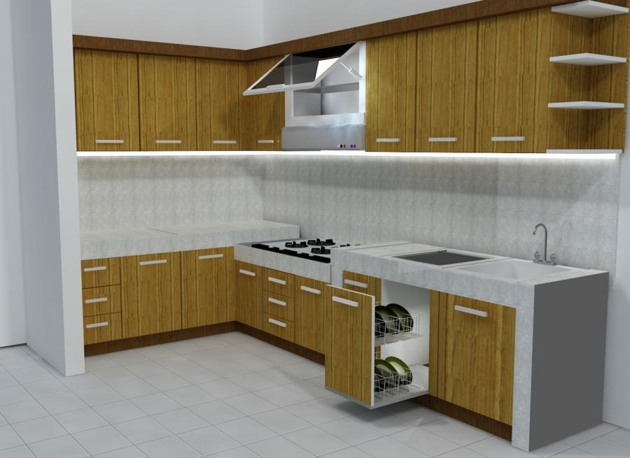 Kitchen set photos for Model kitchen set minimalis modern