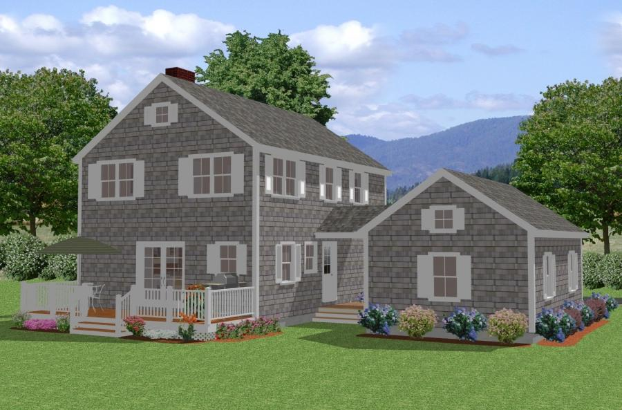New england colonial house photos for Colonial cape cod house plans
