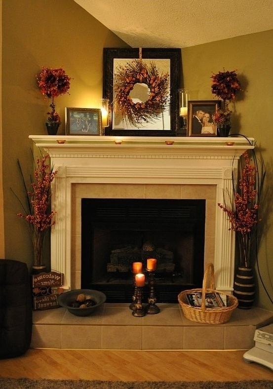 Corner fireplace decorating ideas photos Corner fireplace makeover ideas