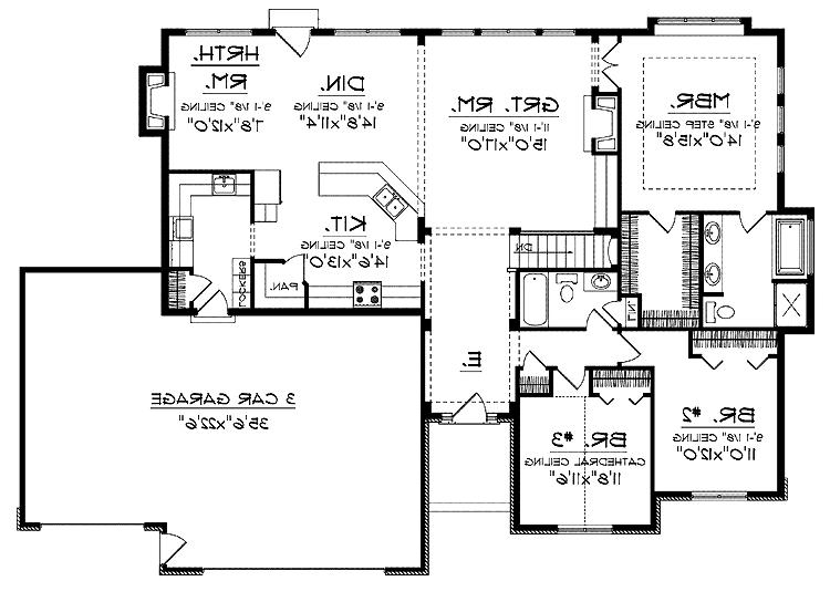 Open floor plans photos for Traditional open floor plans