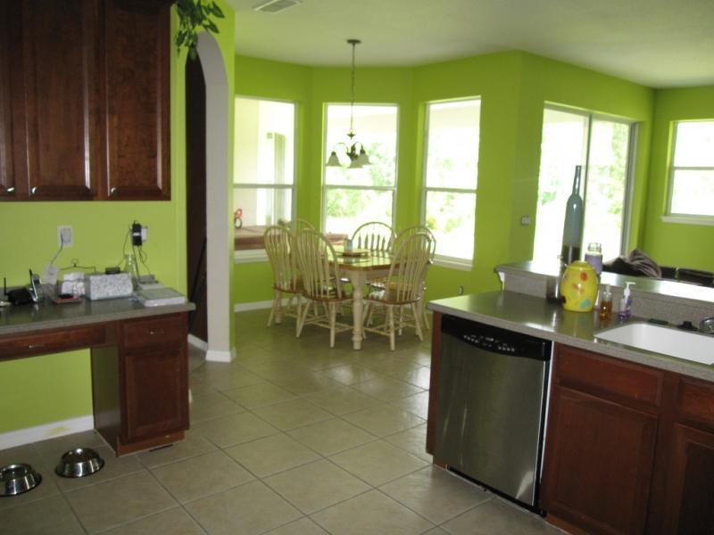 Green Kitchen Walls Photos
