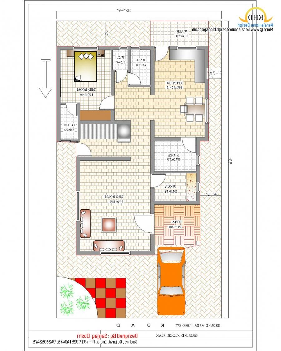 Kerala duplex house plans with photos for Duplex house plans gallery