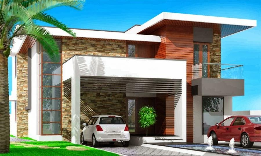 House compound wall design photos for Modern design building services ltd