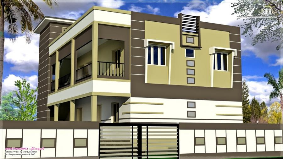 South indian house plans with photos exterior for Indian home design photos exterior