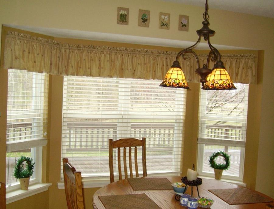 Bay window curtain ideas photos - Ideas of window treatments for bay windows in dining room ...