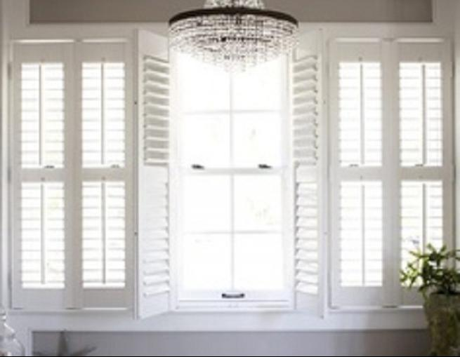 Window Treatments: French Door Plantation Shutters, french door...