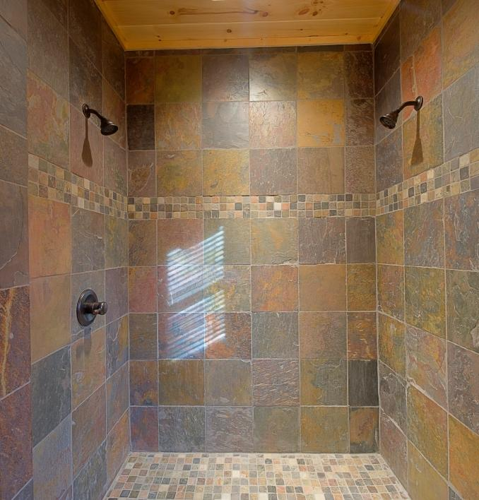 Ceramic tile showers