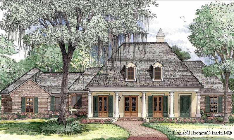 French acadian house plans with photos for Home plans louisiana