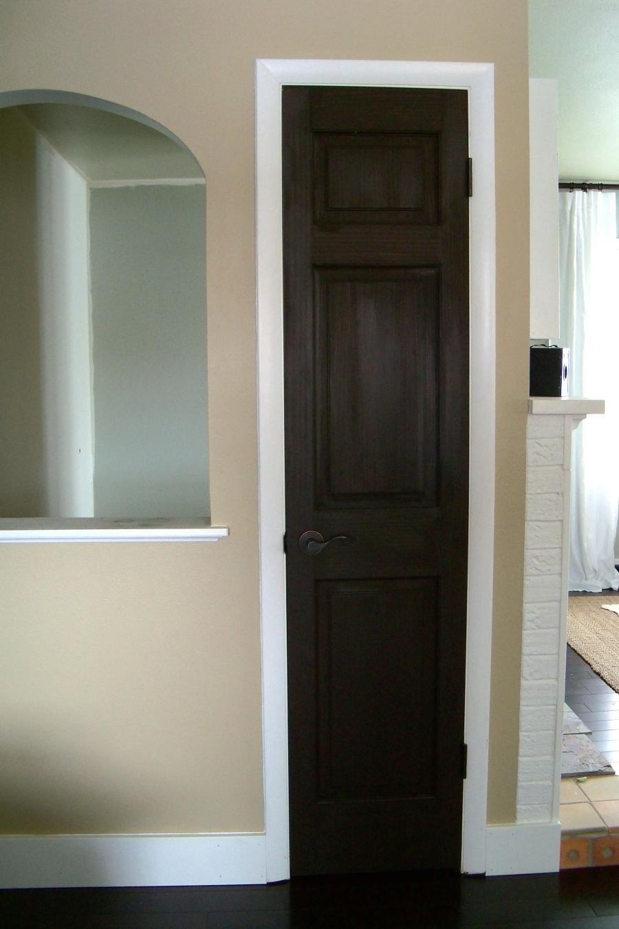 Stained Door White Trim Photos