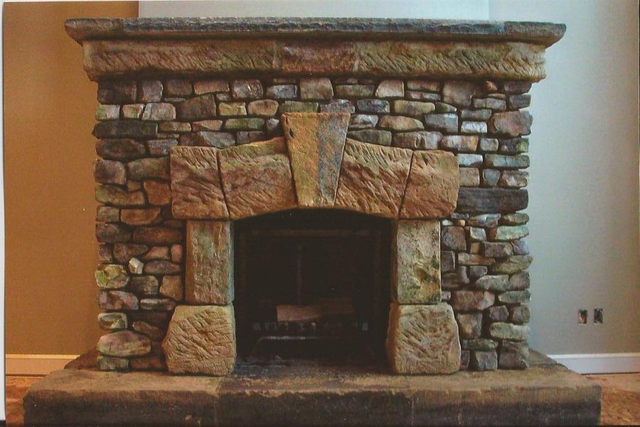 Fieldstone Fireplace Designs : Fieldstone fireplace photos