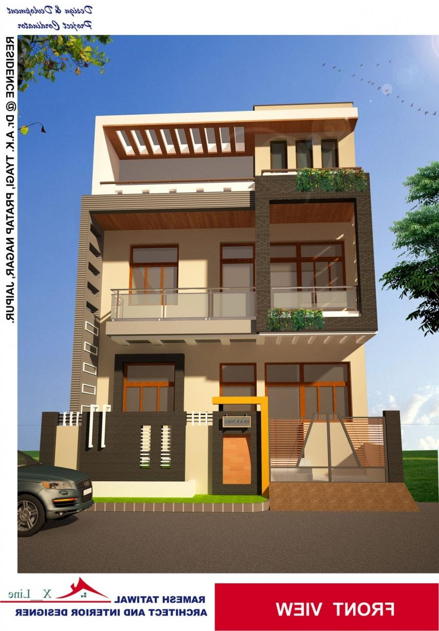 Residential house elevation photos for Elevation design photos residential houses