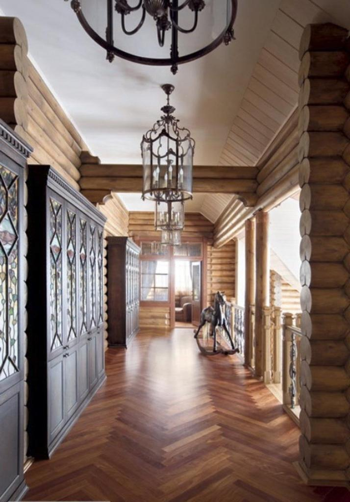 Modern House Corridor Design With Combination Of Wood And...