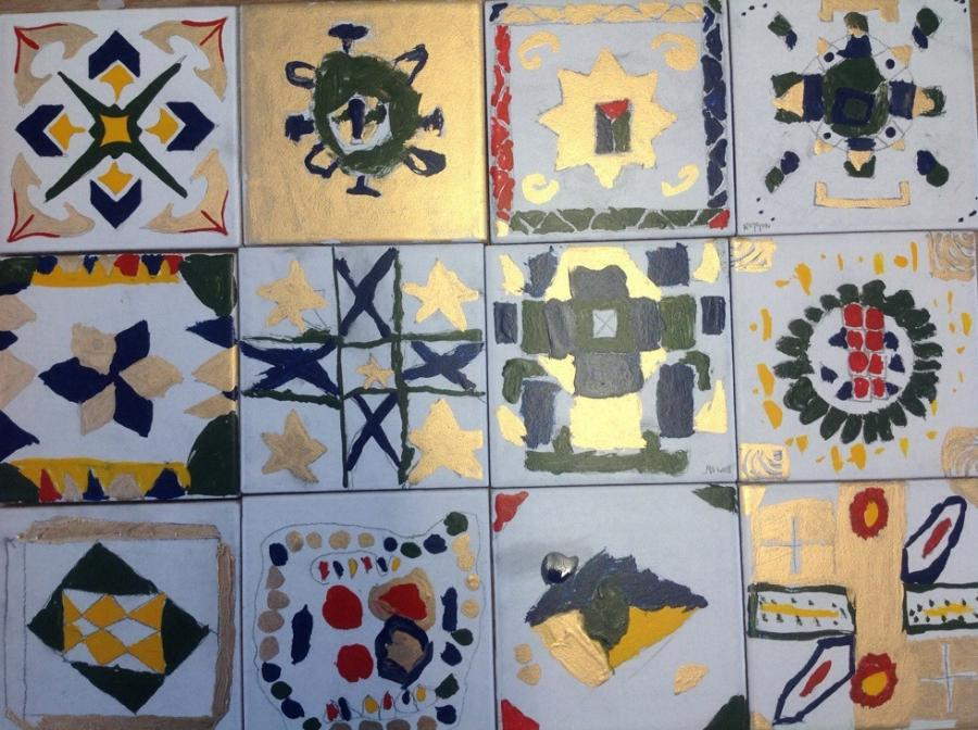Ceramic tile transfers