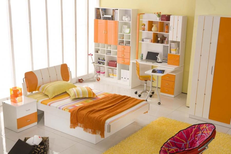 General : Fantastic Cute Kids Bedrooms Orange Groove ~...