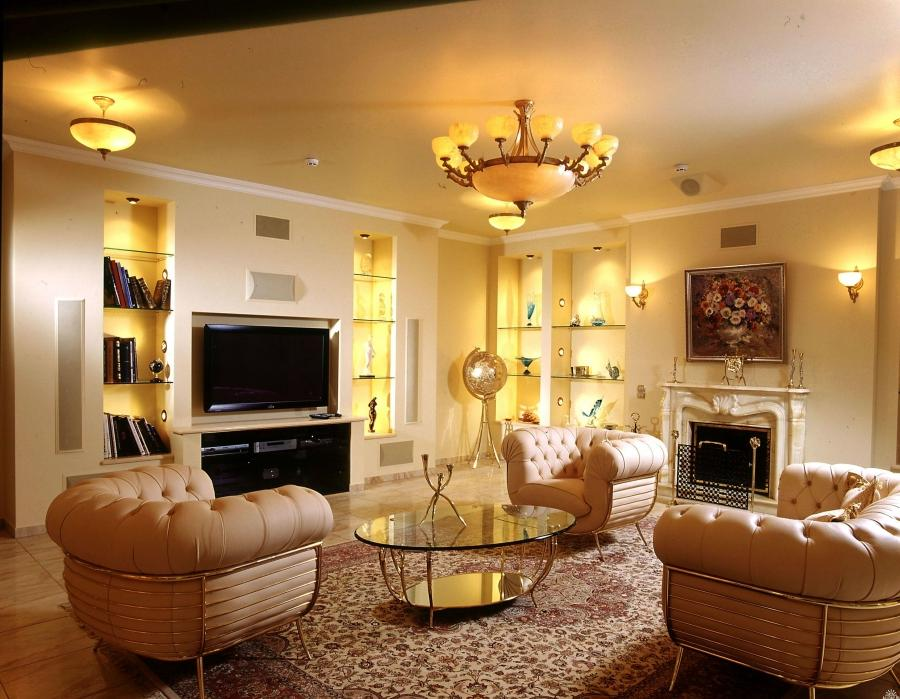 Furniture : Neutral Colored For Classic Living Room Decoration...