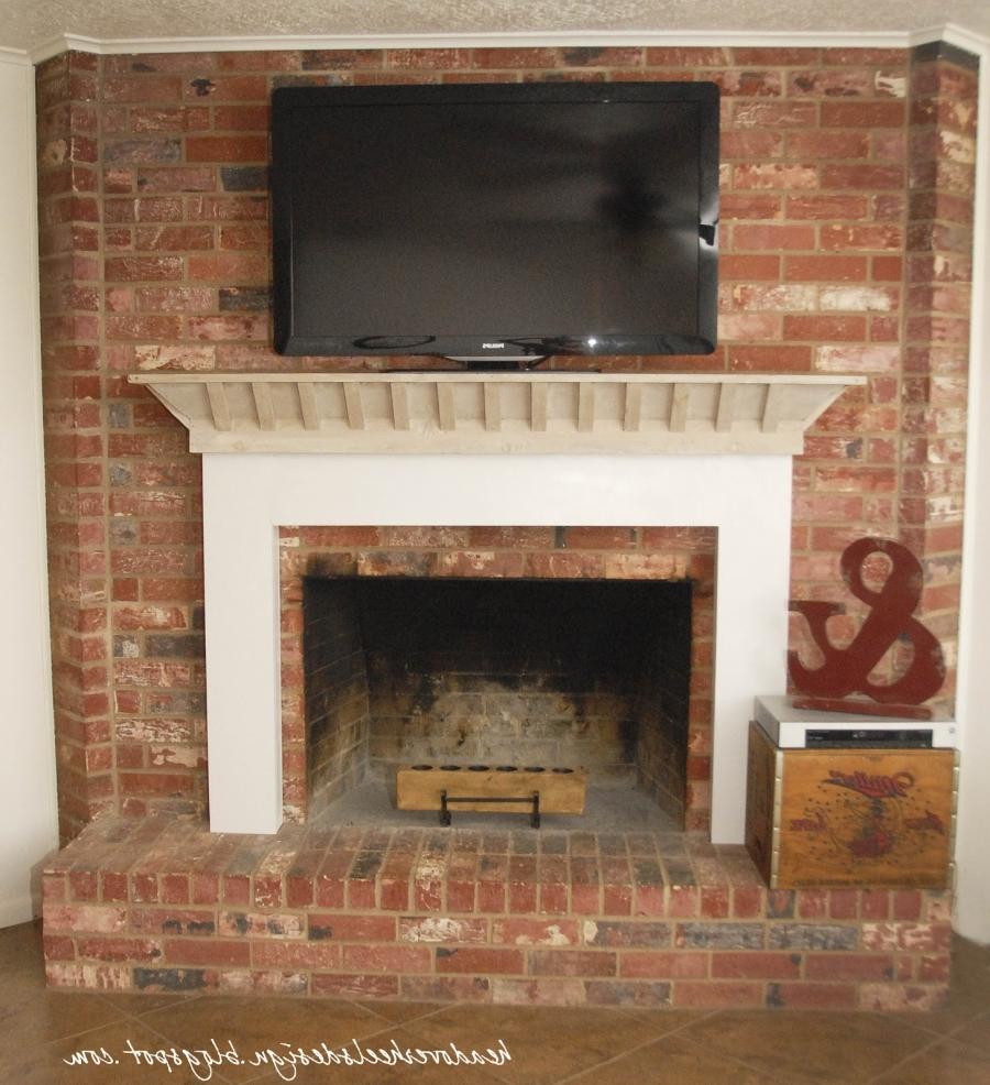 Brick Fireplace Mantel Photos